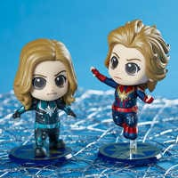 Image of Marvel's Captain Marvel Cosbaby Bobble-Head Figure by Hot Toys - Flying Version # 2