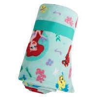Image of Ariel, Flounder, and Sebastian Fleece Throw - Personalizable - The Little Mermaid # 2