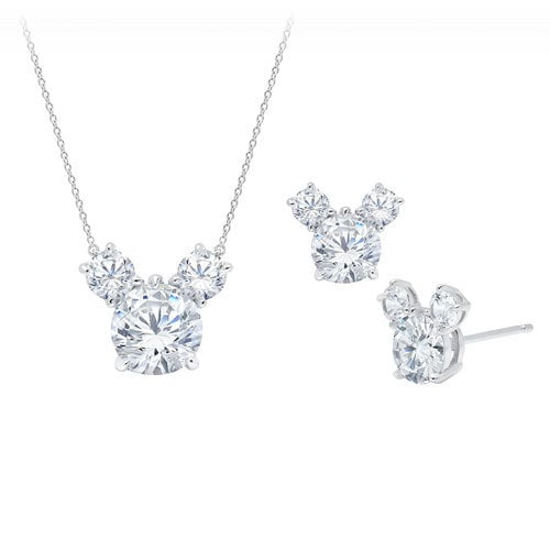 Mickey Mouse Necklace and Earrings Set by CRISLU