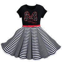 Image of Minnie Mouse Rhinestone Bow Dress for Girls # 1