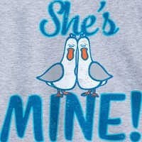 Image of Finding Nemo Seagulls ''She's Mine, Mine, Mine'' Couples T-Shirt for Adults # 2