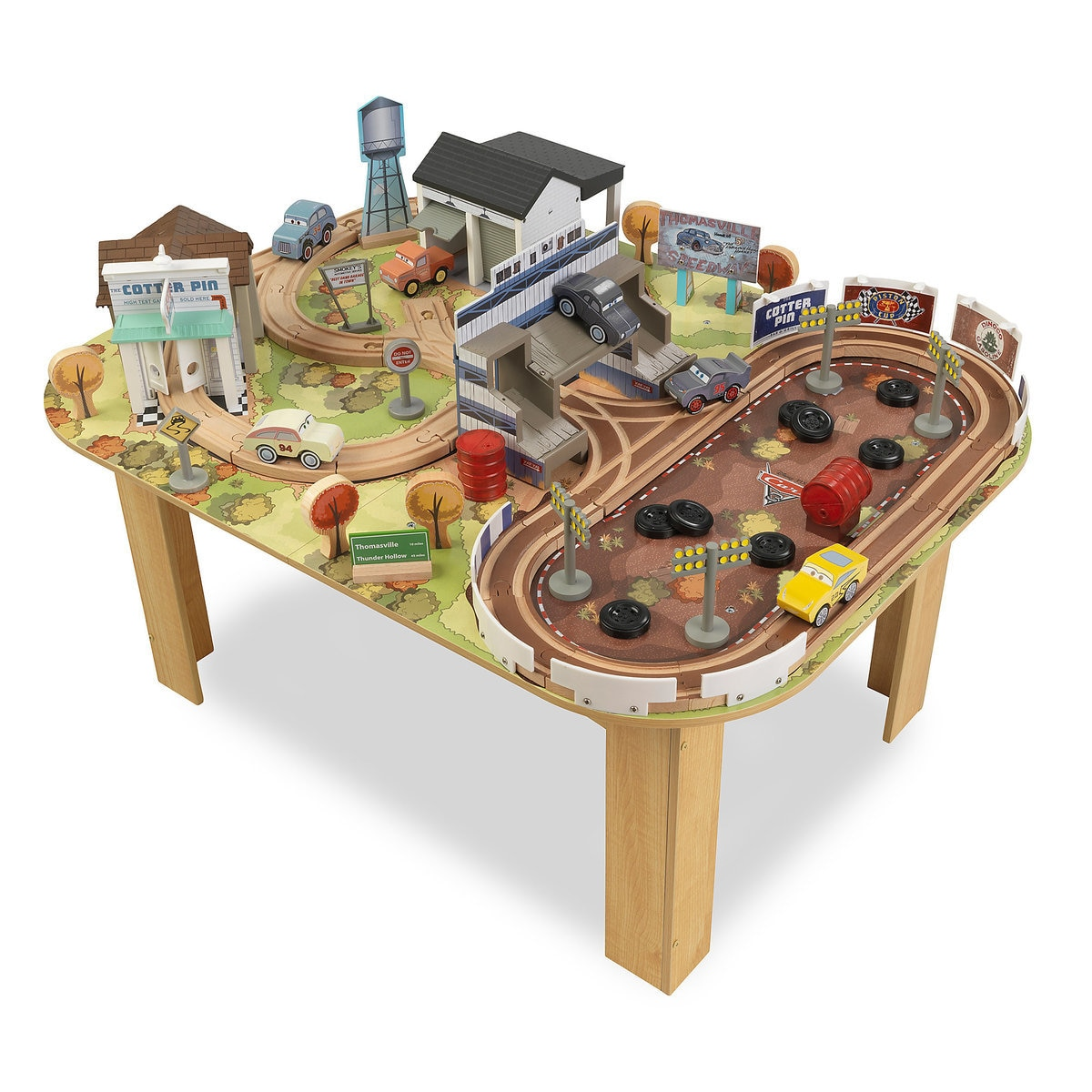 Image Of Cars 3 Thomasville Track Set And Table By Kidkraft 1