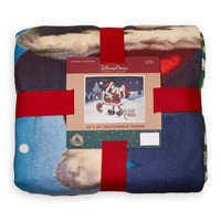 Image of Santa Mickey and Minnie Mouse Reversible Throw # 3