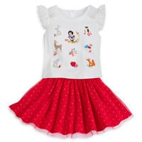 Image of Snow White Top and Skirt Set for Girls # 1