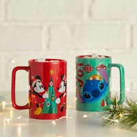 Image of Santa Mickey and Minnie Mouse Holiday Mug # 2