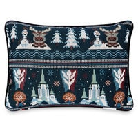 Frozen Holiday Cross Stitch Pillow