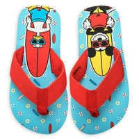 Image of Mickey Mouse and Donald Duck Flip Flops for Boys # 2