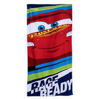 Image of Lightning McQueen Beach Towel for Kids - Personalizable # 1