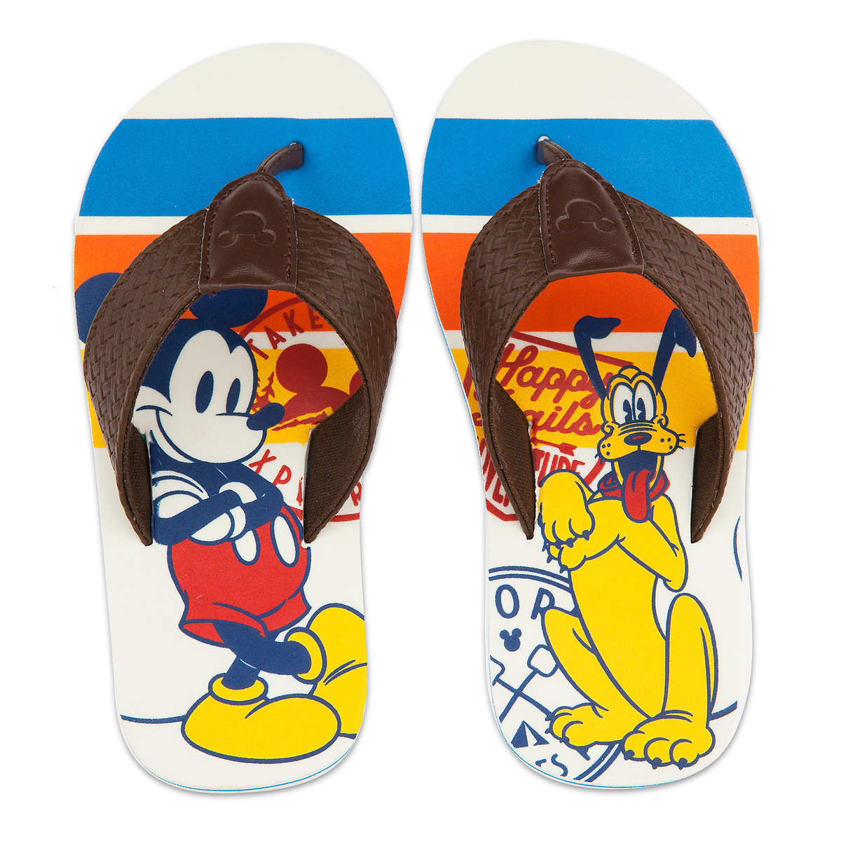Mickey Mouse and Pluto Flip Flops