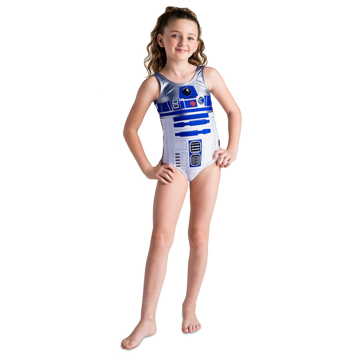 d06ea18ce5 Product Image of R2-D2 Swimsuit for Girls - Star Wars   1