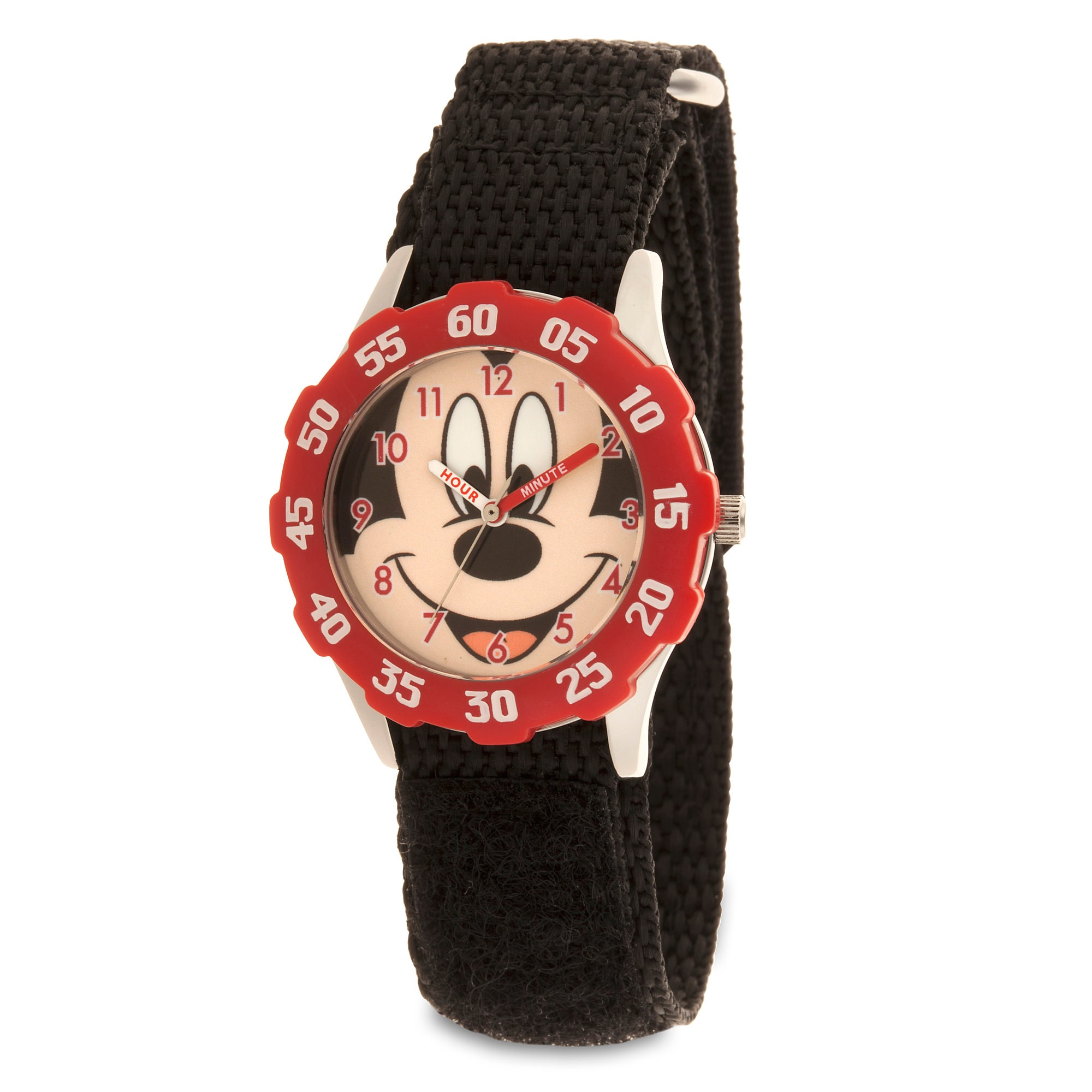 Mickey Mouse Stainless Steel Time Teacher Watch - Kids