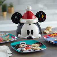 Image of Mickey Mouse Holiday Cookie Jar # 3