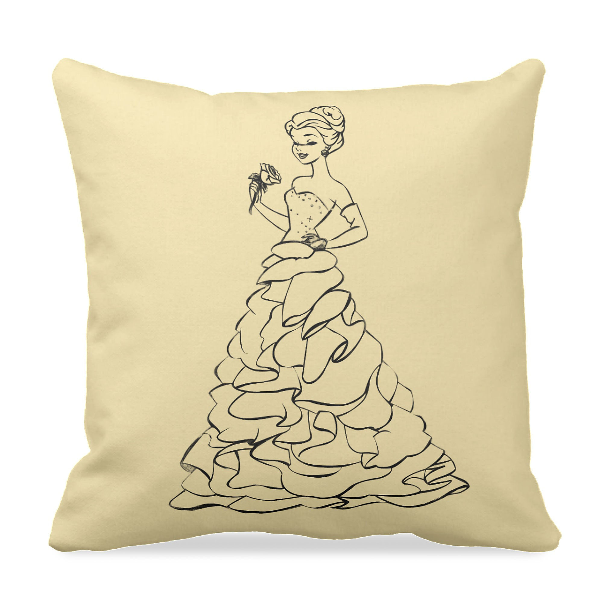 Belle Throw Pillow - Art of Princess Designer Collection