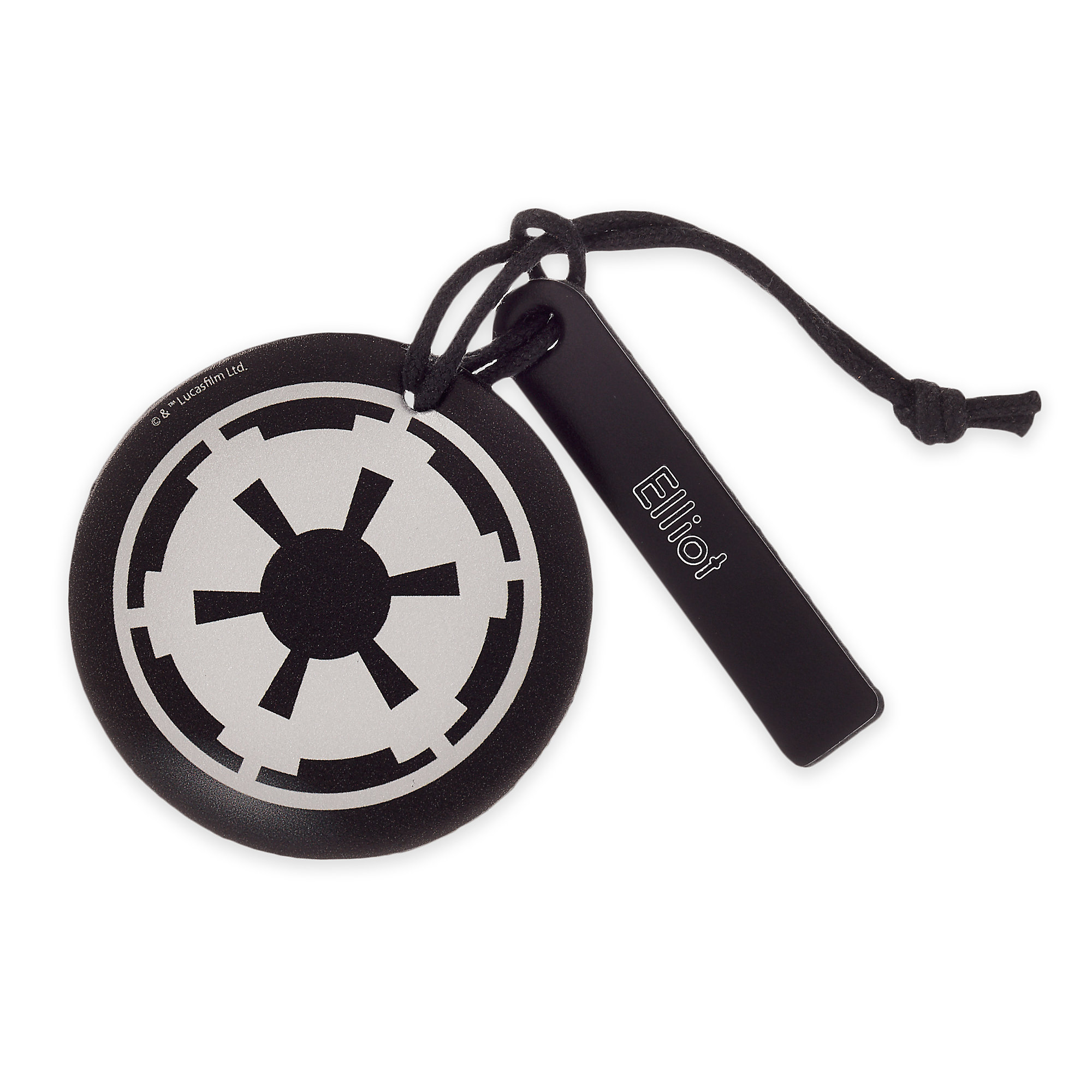 Star Wars Imperial Symbol Leather Luggage Tag - Personalizable