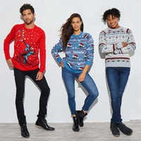 Image of Stitch Light-Up Holiday Sweater for Adults # 2
