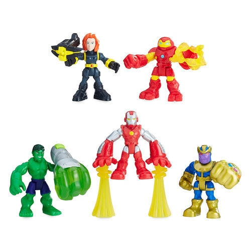 The Power Up Squad Playskool Heroes Marvel Super Hero Adventures Playset