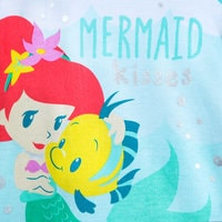 Image of Ariel and Flounder Disney Cuddly Bodysuit for Baby # 2