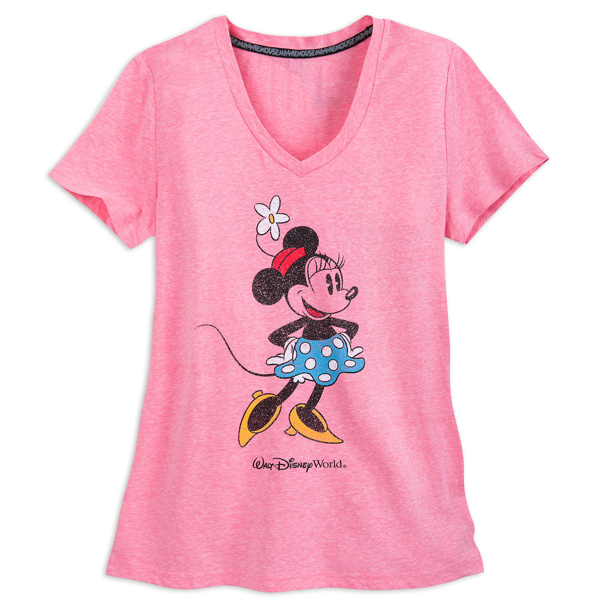 Minnie Mouse V-Neck T-Shirt for Women - Walt Disney World - Pink ...