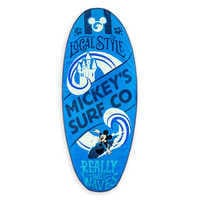 Image of Mickey Mouse Surfboard Beach Towel # 1