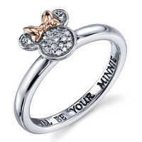 Image of Minnie Mouse Diamond Ring for Women # 1