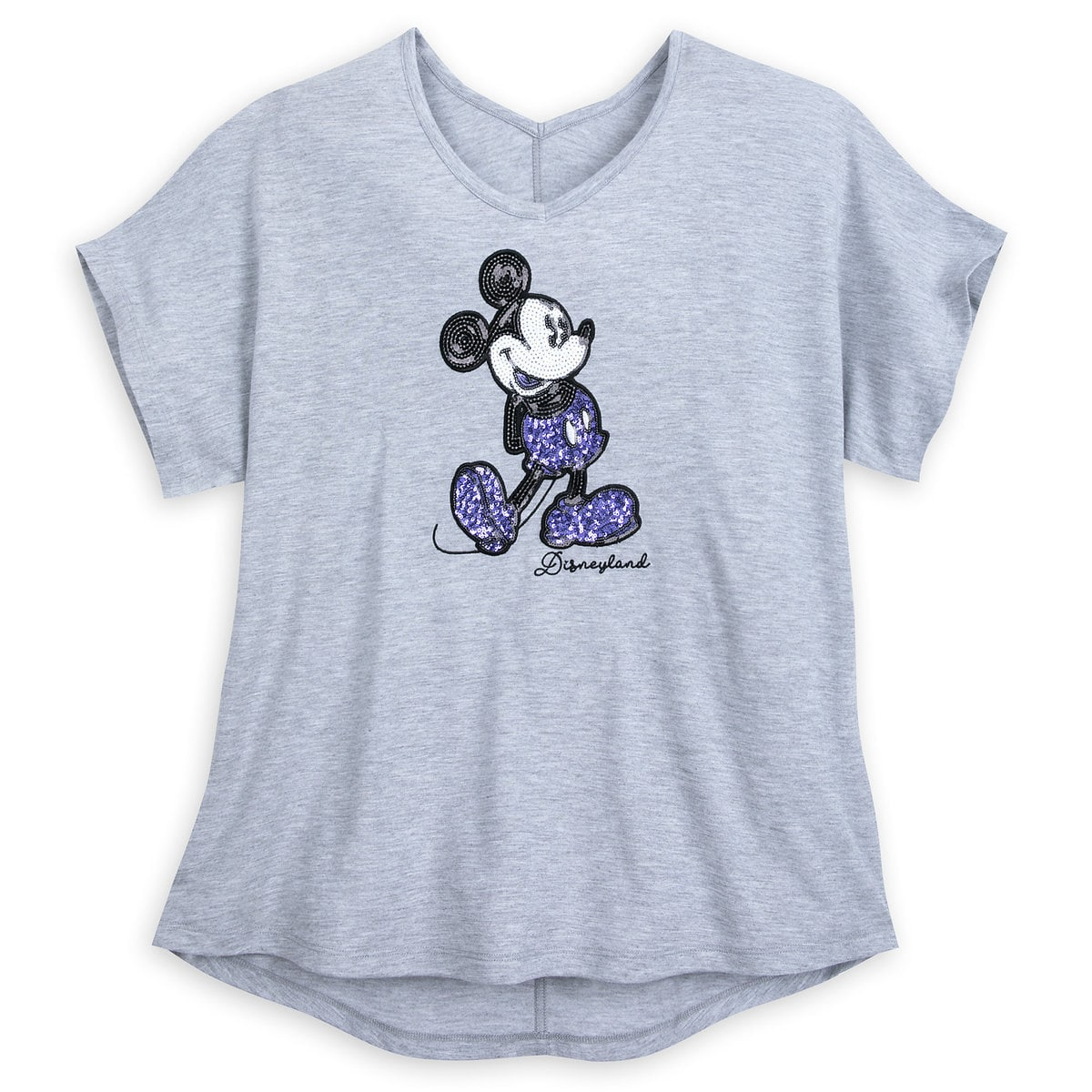 c60bf1229 Product Image of Mickey Mouse Sequined T-Shirt for Women - Potion Purple -  Disneyland
