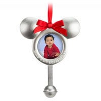 Mickey Mouse Icon Photo Frame Ornament - ''Baby's 1st Christmas''