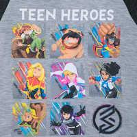 Image of Marvel Rising ''Teen Heroes'' Raglan Top for Girls # 3