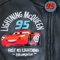 Image of Lightning McQueen Faux Leather Jacket for Boys # 4