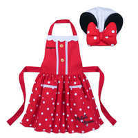 Image of Minnie Mouse Signature Apron and Chef's Hat Set for Kids - Personalizable # 1