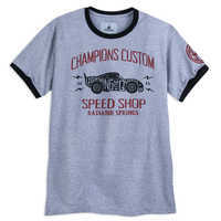 Image of Lightning McQueen Ringer T-Shirt for Adults - Cars # 1