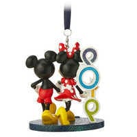 Image of Mickey and Minnie Mouse Figural Ornament - Disneyland 2019 # 2