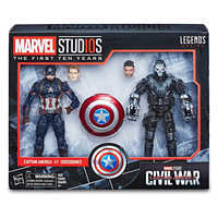 Image of Captain America and Crossbones Action Figures - Legends Series - Marvel Studios 10th Anniversary # 2