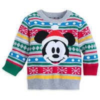 Image of Mickey Mouse Family Holiday Sweater for Baby # 1