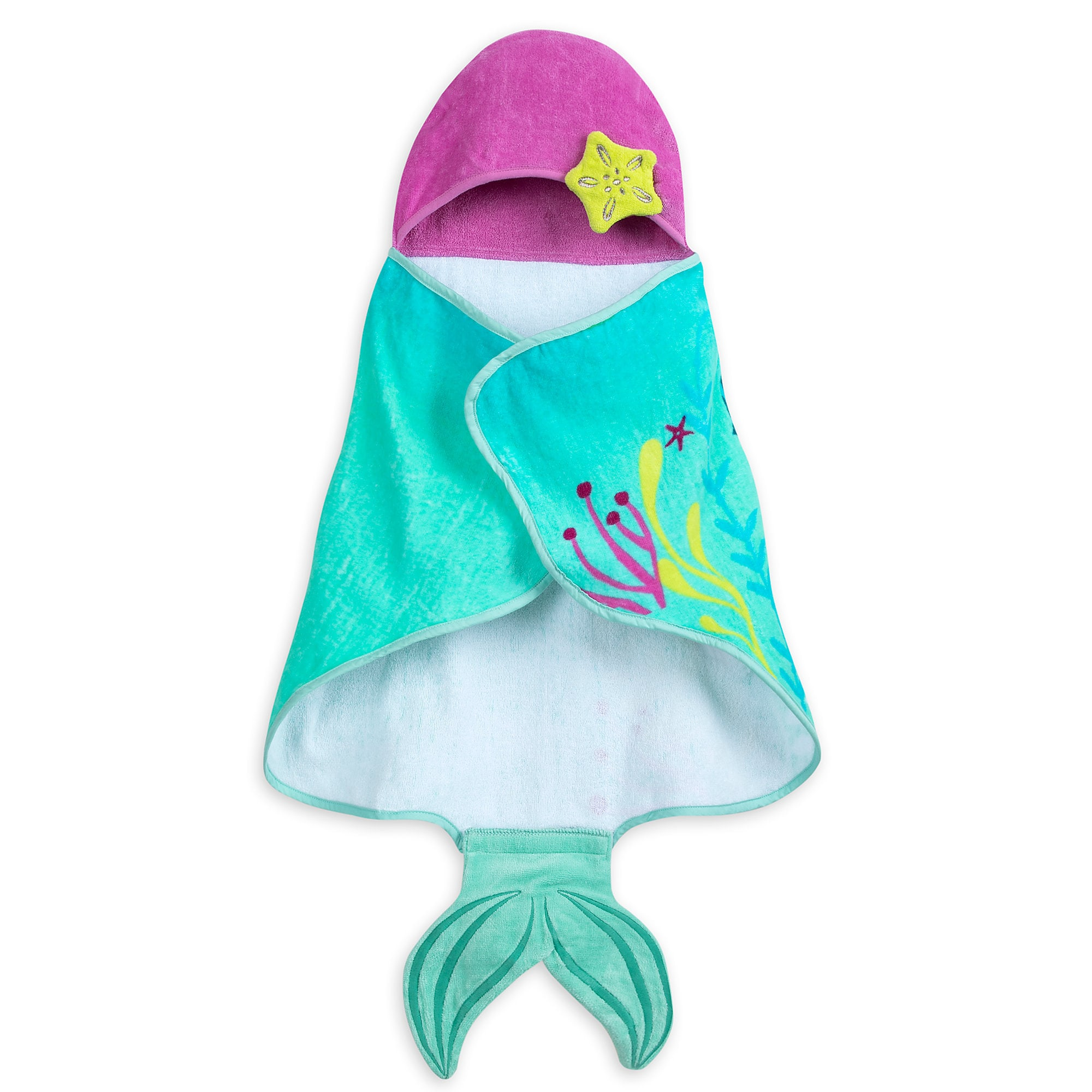 The Little Mermaid Hooded Swim Towel for Baby