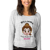 Image of Belle Emoji Vacation Fashion Top for Women - Customizable # 1