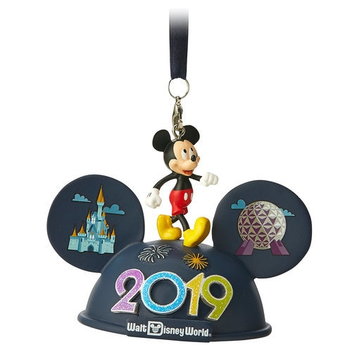 Mickey Mouse Light-Up Ear Hat Ornament - Walt Disney World 2019