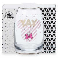 Image of Minnie Mouse Stemless Wine Glass # 3