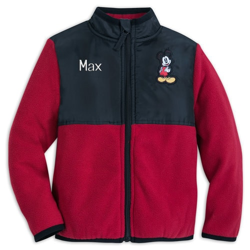 Mickey Mouse Pieced Fleece Jacket for Kids - Personalizable