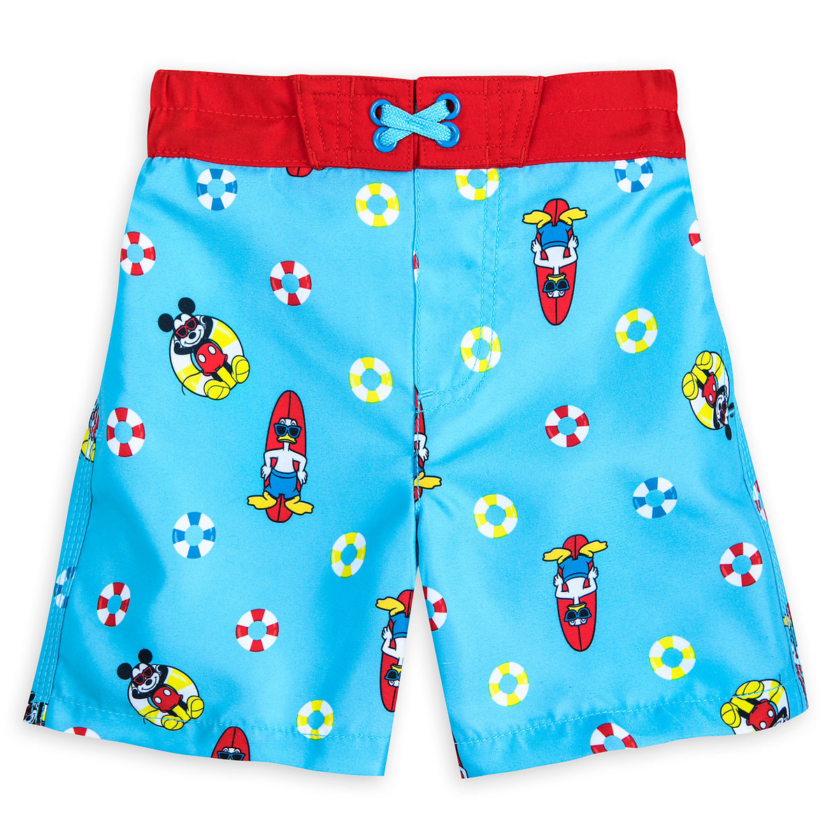 b4d815530bb4 Product Image of Mickey Mouse and Donald Duck Swim Trunks for Boys # 1