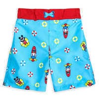 Image of Mickey Mouse and Donald Duck Swim Trunks for Boys # 1
