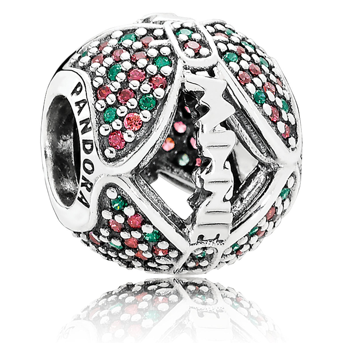 c85cf1c6e Product Image of Minnie Mouse Holiday Bow Charm by Pandora Jewelry # 1