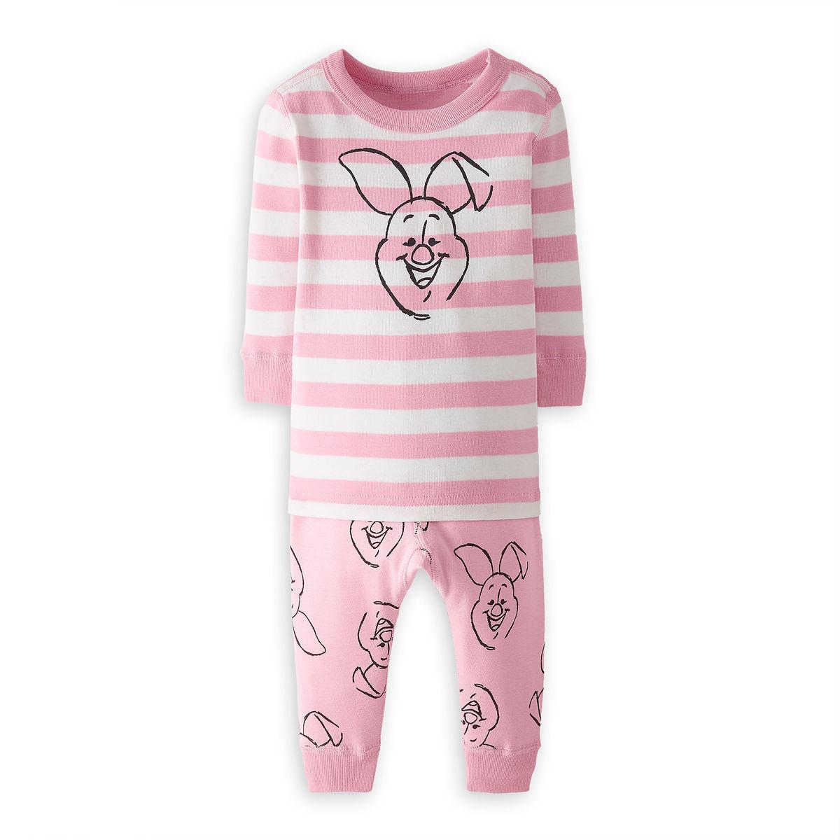 ec9fe8cc2259 Piglet Organic Long John Pajama Set for Baby by Hanna Andersson ...