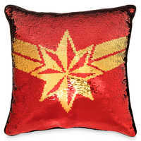 Image of Marvel's Captain Marvel Reversible Sequin Pillow # 1