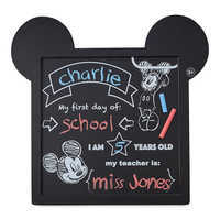 Image of Mickey Mouse Chalkboard Sign # 2