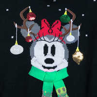 Image of Minnie Mouse Holiday Sweater Dress for Women # 2