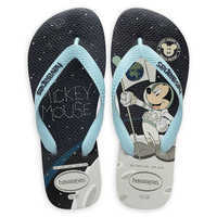 Image of Mickey Mouse Moon Landing Flip Flops for Adults by Havaianas - 1960s # 1