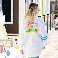 Image of Stitch ''Living in Paradise'' Spirit Jersey for Adults # 4