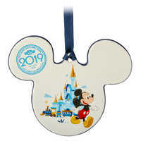 Image of Mickey and Minnie Mouse Icon Ceramic Ornament - Walt Disney World 2019 # 1