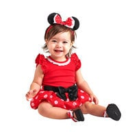 Image of Minnie Mouse Costume Bodysuit for Baby - Red - Personalizable # 2