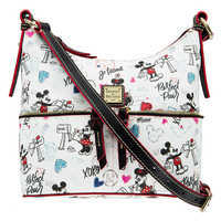 Image of Mickey and Minnie Mouse Sweethearts Pocket Sac Shoulder Bag by Dooney & Bourke # 1